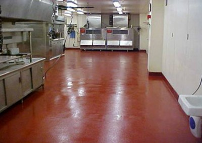 PalmaLite Novalac epoxy flooring in an industrial kitchen