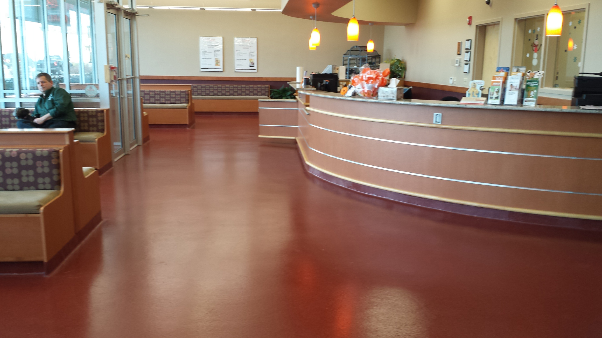 Solid Color Waterproof Epoxy Flooring - UniKrom 185 from Palma Inc. is slip-resistant, non-porous and designed for use in multiple applicaitons