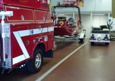 Firehouse epoxy floor